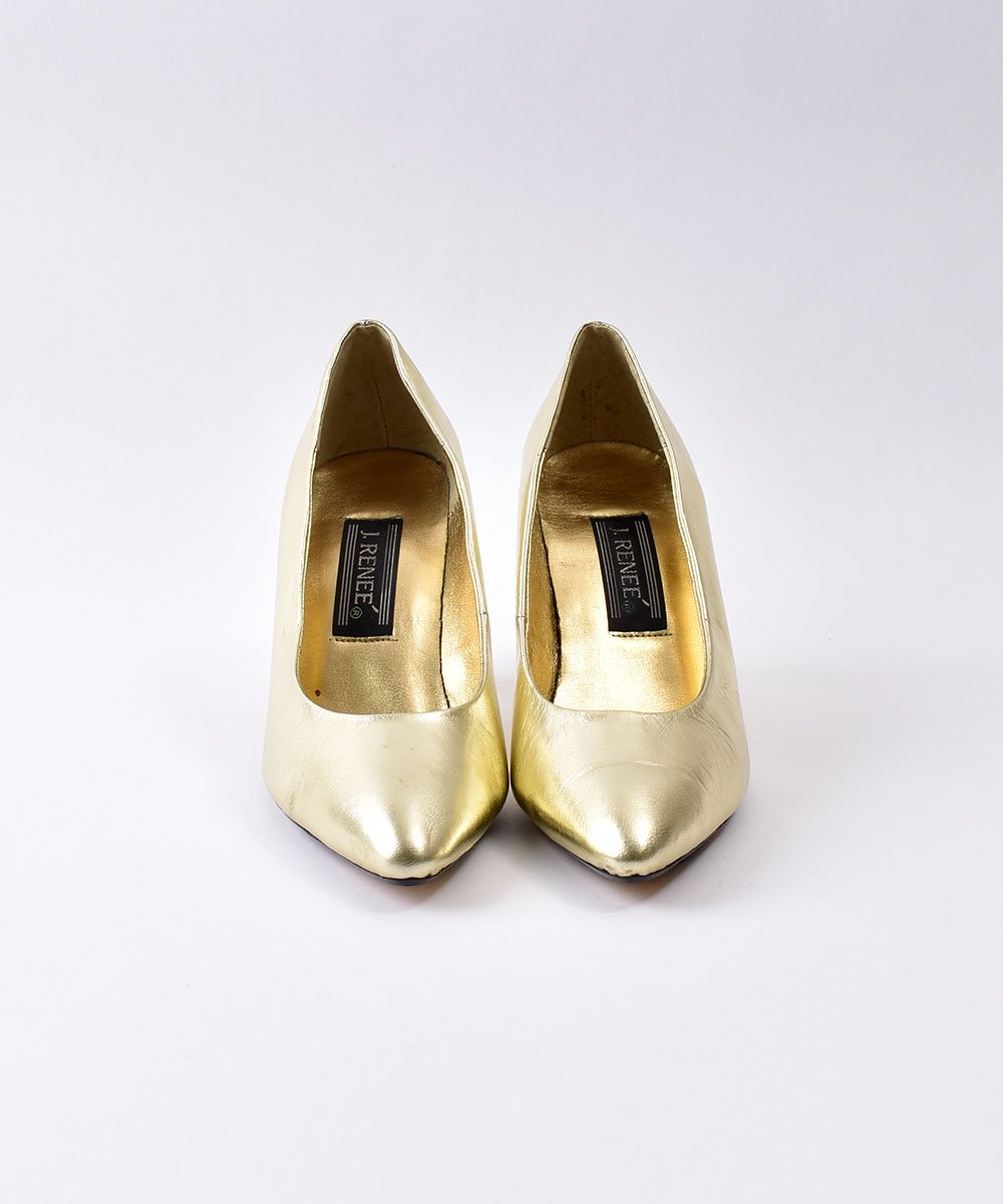 Gold  Leather  Pumps  | ゴールド レザーパンプス サムネイル