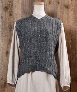 古着Nep V Neck Lib Knit Vest ネップ Vネック リブ ニット ベスト 古着のネット通販 古着屋グレープフルーツムーン
