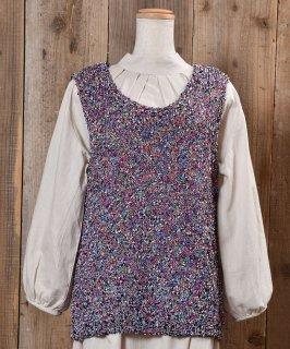 古着Lame Yarn V Neck Vest ラメ入り編み込みVネックベスト 古着のネット通販 古着屋グレープフルーツムーン