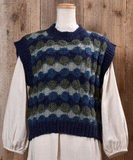 古着Low-Gage Dot Knit Vest ローゲージ ドット ニットベスト  古着のネット通販 古着屋グレープフルーツムーン
