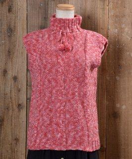 古着 Turtle Neck Knit Vest タートルネック ニットベスト ピンク系 古着のネット通販 古着屋グレープフルーツムーン