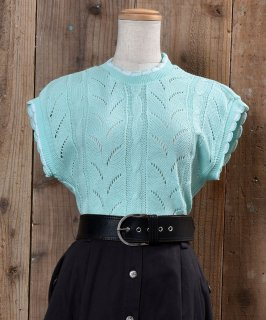 古着Standing Collar Knit Vest 立ち襟 ニットベスト 古着のネット通販 古着屋グレープフルーツムーン