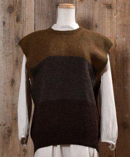 古着3Color Wool Knit Vest 3カラー ウール ニット ベスト 古着のネット通販 古着屋グレープフルーツムーン