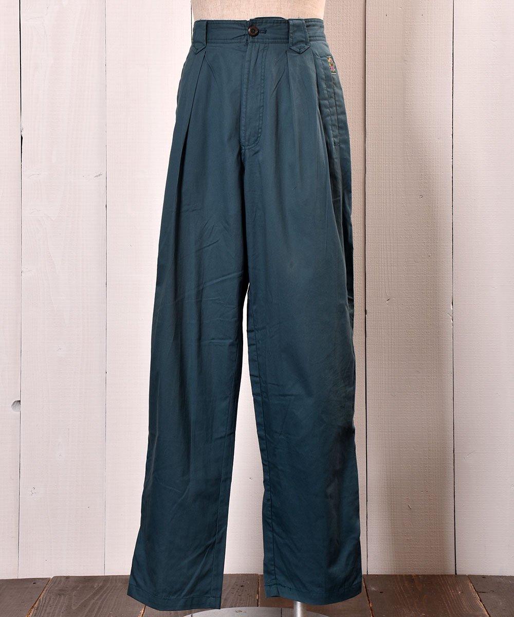 古着 All Cotton Fabric Design Slacks|コットン素材デザインスラックス ヨーロッパ 古着 ネット 通販 古着屋グレープフルーツムーン