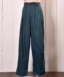 古着All Cotton Fabric Design Slacks|コットン素材デザインスラックス ヨーロッパ 古着のネット通販 古着屋グレープフルーツムーン