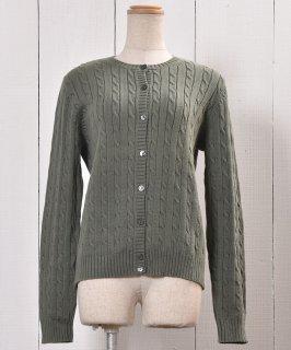 古着Long Sleeve Knit Cardigan |ロングスリーブ ニットカーディガン アラン模様 古着のネット通販 古着屋グレープフルーツムーン