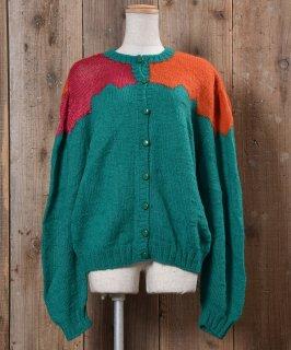 古着Knit Cardigan Color Switched|ニットカーディガン 切り替えカラ— 古着のネット通販 古着屋グレープフルーツムーン