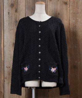古着Tyrolian Cardigan Embroidered|チロルカーディガン 刺繍 古着のネット通販 古着屋グレープフルーツムーン