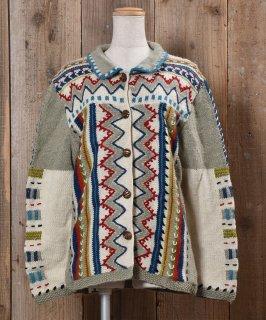 古着Wood Button Wool Cardigan|ウールカーディガン ウッドボタン 古着のネット通販 古着屋グレープフルーツムーン