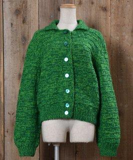 古着Long Sleeve Knit Cardigan  |ロングスリーブ ニットカーディガン 襟付き 古着のネット通販 古着屋グレープフルーツムーン