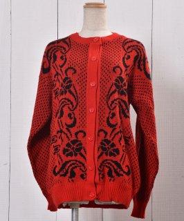 古着Rib Knit Cardigan Dot&Arabesque | リブニット カーディガン ドット アラベスク 古着のネット通販 古着屋グレープフルーツムーン