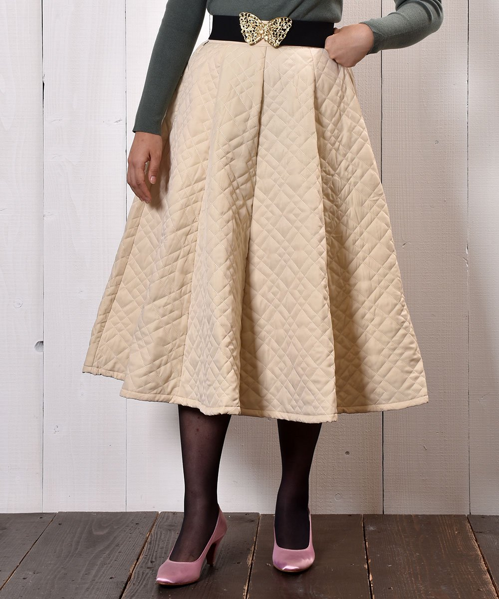 """【3 Color Available】 """"Meridian"""" Circular Quilting Skirt