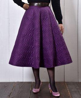 古着【2 Color Available】Circular Nylon Quilting Skirt|サーキュラー ナイロン素材キルティングスカート パープル 古着のネット通販 古着屋グレープフルーツムーン