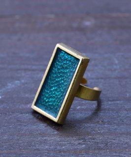 古着ヨーロッパ製 スクエアストーン ゴールドカラーリング Made in Europe Gold Color Ring Square Stone 古着のネット通販 古着屋グレープフルーツムーン