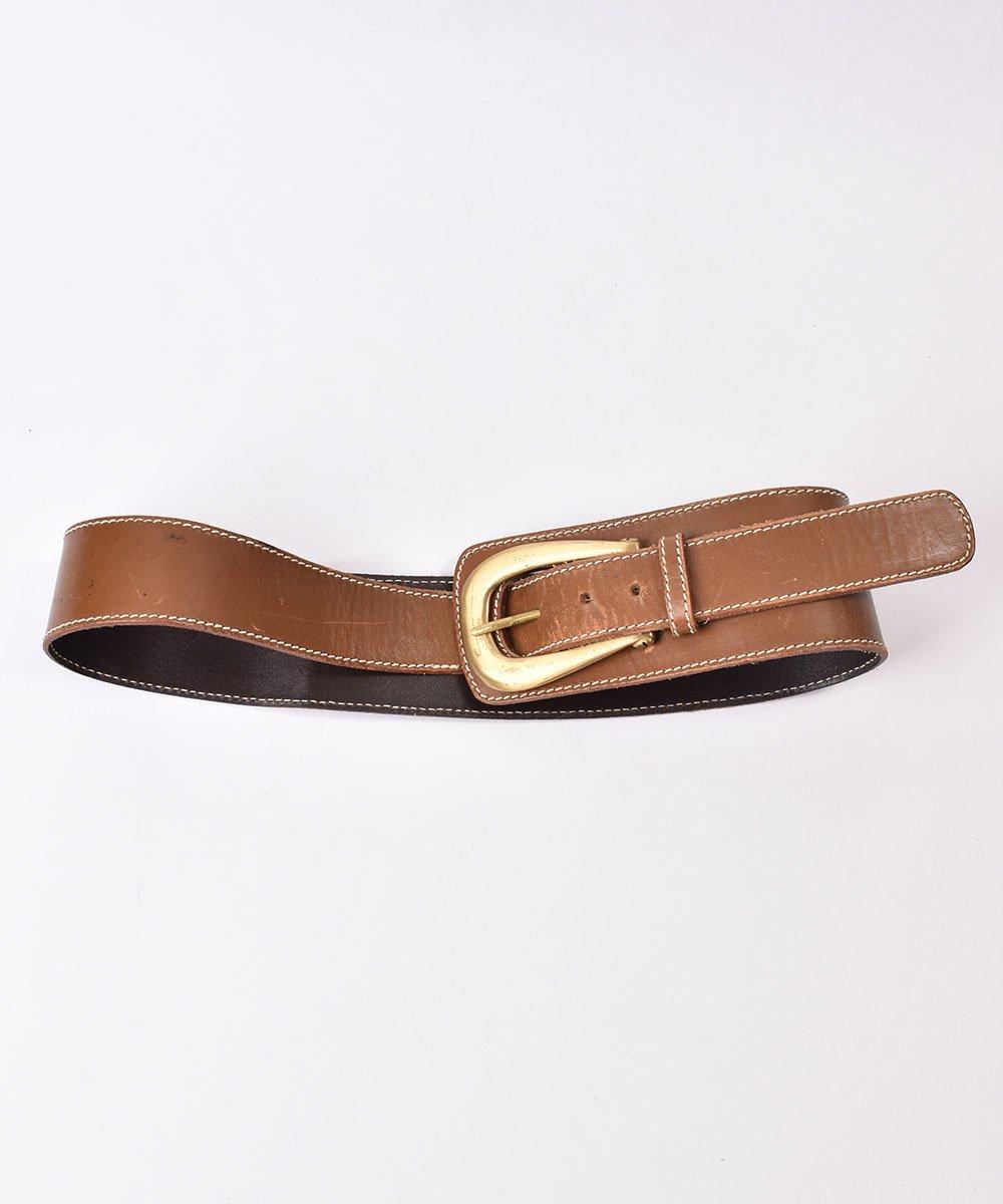 古着 レザーベルト ワイド|Leather Wide Belt  古着 ネット 通販 古着屋グレープフルーツムーン