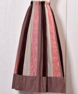 古着フレアスカート ベロア 切り替え|Flare Skirt Velvet Switched Design 古着のネット通販 古着屋グレープフルーツムーン