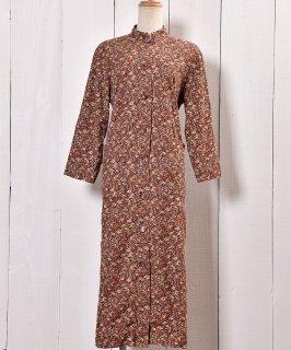 古着コーデュロイ ワンピース スタンドカラー 小花柄 |Corduroy Dress Mandarin Collar Small Flower 古着のネット通販 古着屋グレープフルーツムーン