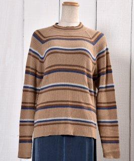 古着マルチボーダー リブニットセーター | Rib Knit Sweater Multi Border 古着のネット通販 古着屋グレープフルーツムーン