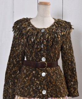 古着ミックスネップ シャギー ニットカーディガン | Shaggy Knit Cardigan Mix Nep 古着のネット通販 古着屋グレープフルーツムーン