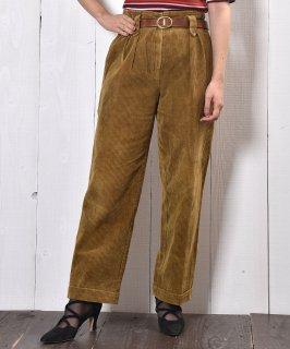 古着フランス製 太畝コーデュロイ 2タック テーパードパンツ|Made in France Corduroy Pants 古着のネット通販 古着屋グレープフルーツムーン