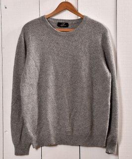 古着カシミア クルーネック セータ— グレー | Cashmere Crew Neck Sweater Gray 古着のネット通販 古着屋グレープフルーツムーン