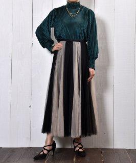 """古着""""Meridian"""" 2Colors Tulle Skirt Beige × Black 2カラー チュール スカート ベージュ × ブラック 古着のネット通販 古着屋グレープフルーツムーン"""