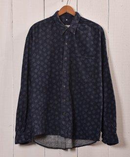 古着小紋柄 コーデュロイ シャツ|Small Pattern Corduroy Shirts 古着のネット通販 古着屋グレープフルーツムーン