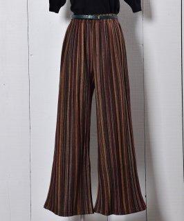"""古着""""Meridian"""" フェルトパンツ ミックスストライプ パープル Felt Pants Mix Stripe Purple 古着のネット通販 古着屋グレープフルーツムーン"""