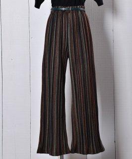 """古着""""Meridian"""" フェルトパンツ ミックスストライプ ネイビー Felt Pants Mix Stripe Navy 古着のネット通販 古着屋グレープフルーツムーン"""