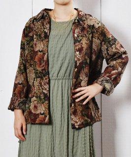 古着花柄 ゴブラン ジャケット|Flower Pattern Gobelin Jacket 古着のネット通販 古着屋グレープフルーツムーン