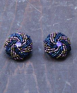 古着丸型 ビーズイヤリング  Round Earrings Beads 古着のネット通販 古着屋グレープフルーツムーン