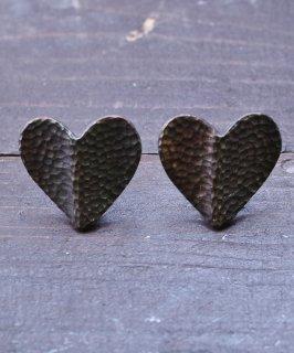 古着ハート型 ブロンズカラー イヤリング|Bronze Color Earrings Heart 古着のネット通販 古着屋グレープフルーツムーン