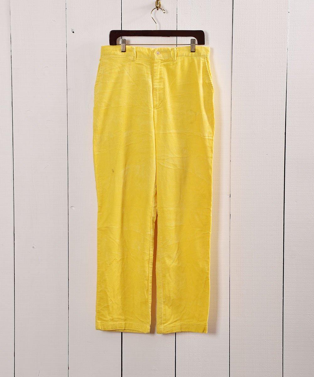 古着 太畝コーデュロイ 5ポケットパンツ イエロー W32|5 Pockets Corduroy Pants Yellow 古着 ネット 通販 古着屋グレープフルーツムーン
