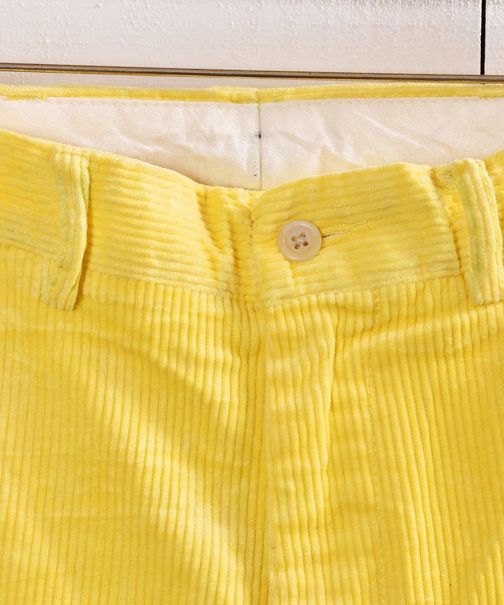 太畝コーデュロイ 5ポケットパンツ イエロー W32|5 Pockets Corduroy Pants Yellowサムネイル