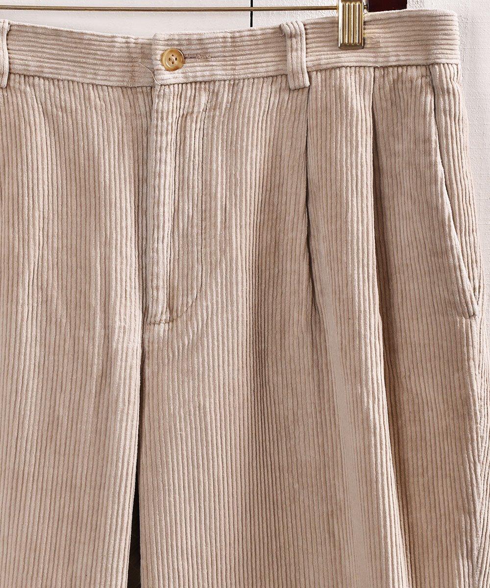 「ノーティカ」太畝コーデュロイ 2タックパンツ  W32|2tuck Corduroy Pants Beigeサムネイル