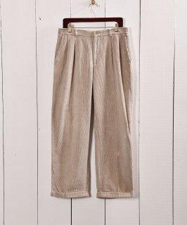 古着「ノーティカ」太畝コーデュロイ 2タックパンツ  W32|2tuck Corduroy Pants Beige 古着のネット通販 古着屋グレープフルーツムーン