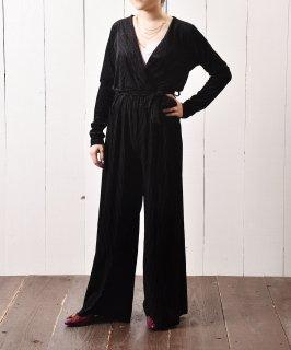 古着ベロア ストライプ オールインワン|All-in-One Velvet Stripe   古着のネット通販 古着屋グレープフルーツムーン