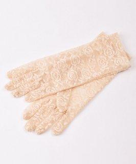 古着【2色展開】レース グローブ 花柄 ベージュ|Lace Glove Flower Beige 古着のネット通販 古着屋グレープフルーツムーン