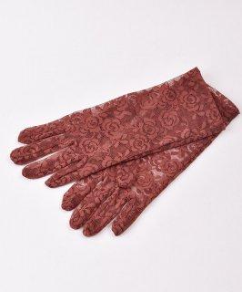 古着【2色展開】レース グローブ 花柄 ブラウン|Lace Glove Flower Brown 古着のネット通販 古着屋グレープフルーツムーン