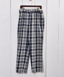 古着ネイビー×アイボリー チェック柄 イージーパンツ|Navy×Ivory Check Pattern Easy Pants 古着のネット通販 古着屋グレープフルーツムーン