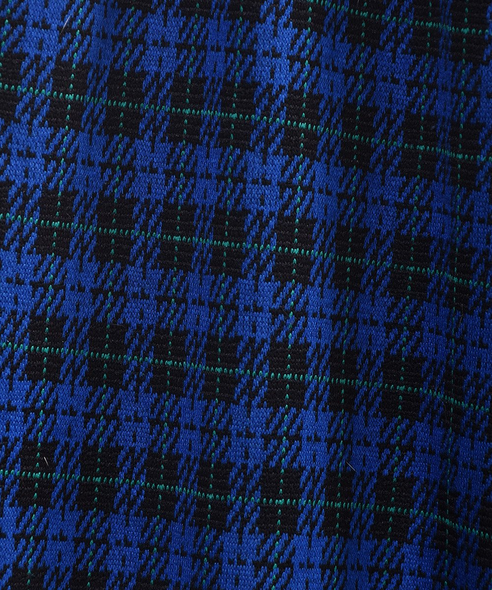 ブルー×ブラック チェック柄 イージーパンツ Blue ×Black Check Pattern Easy Pants サムネイル