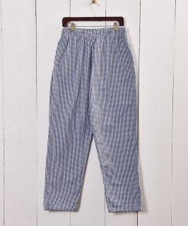 古着ギンガムチェック コック パンツ|Navy Gingham Check Army Cock Pants 古着のネット通販 古着屋グレープフルーツムーン