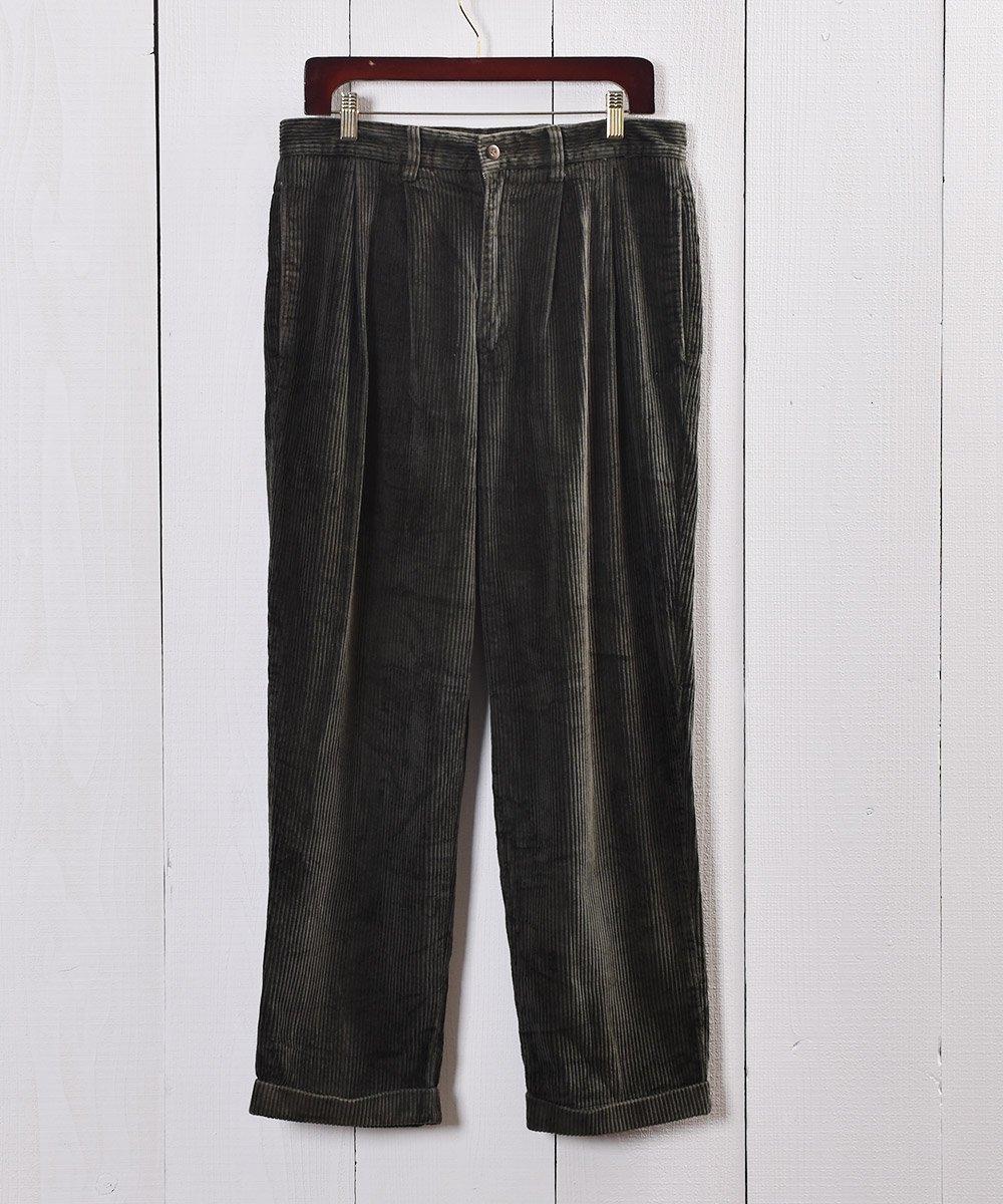 古着 太畝 コーデュロイ タック パンツ|Wide Wale Corduroy Tuck Pants 古着 ネット 通販 古着屋グレープフルーツムーン