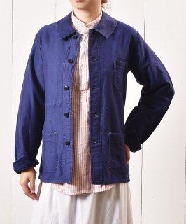 古着ユーロ ワークジャケット ネイビー 古着のネット通販 古着屋グレープフルーツムーン