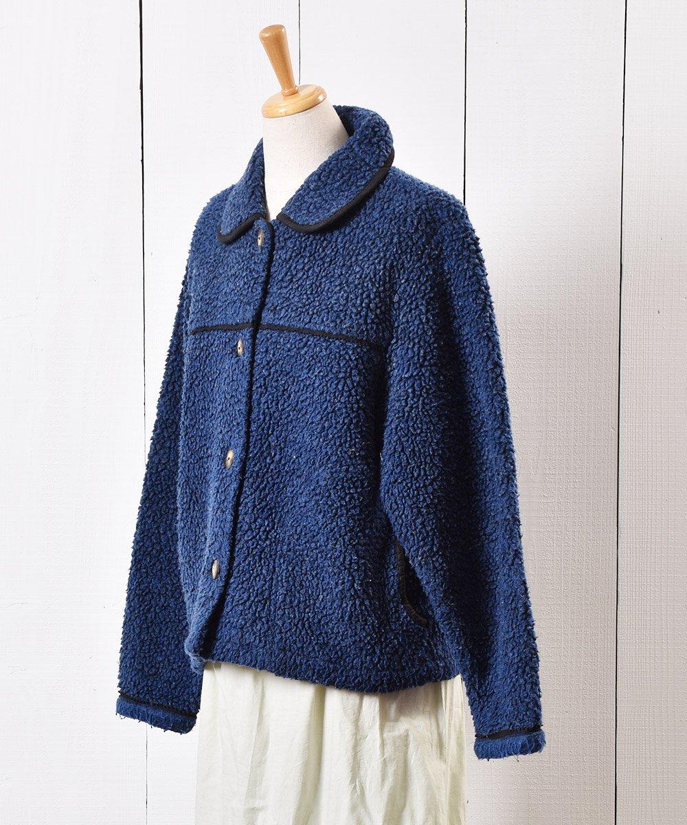 カナダ製 丸襟 フリースジャケット ネイビーサムネイル