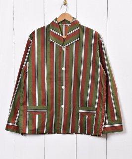 古着変形襟 マルチストライプ パジャマシャツ 古着のネット通販 古着屋グレープフルーツムーン