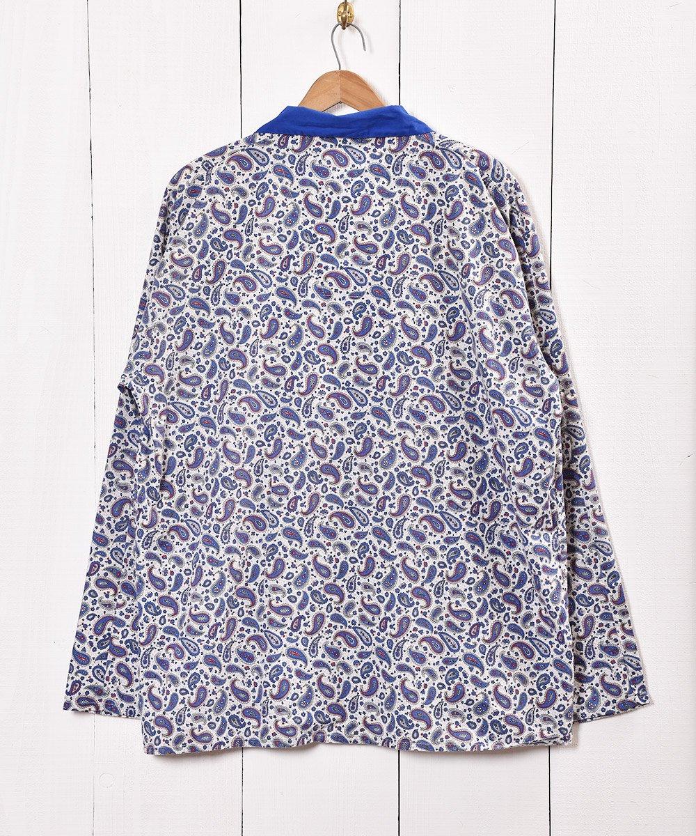イギリス製 ペイズリー柄 パジャマシャツ サムネイル