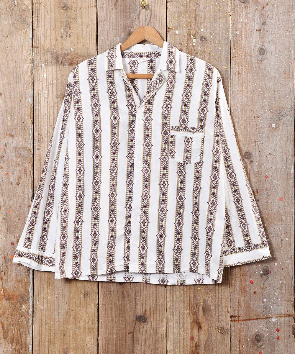 古着 タペストリー柄 パジャマシャツ 古着 ネット 通販 古着屋グレープフルーツムーン