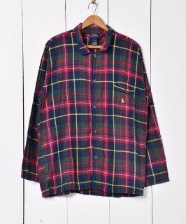 古着POLO by Ralph Lauren タータンチェック パジャマシャツ マルチカラー 古着のネット通販 古着屋グレープフルーツムーン