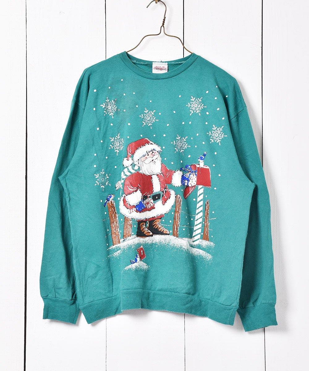 古着 アメリカ製 クリスマス プリントスウェット 古着 ネット 通販 古着屋グレープフルーツムーン